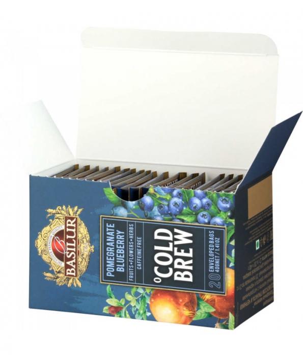 Ceai rece Basilur Brew Pomegranate Blueberry, 20 plicuri [3]