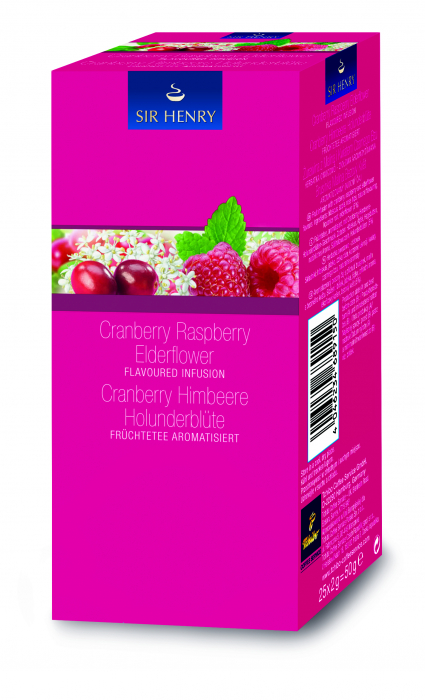 Ceai Sir Henry Cranberry Rasberry, 25 pliculete [0]
