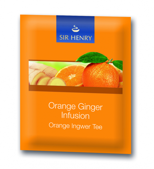Ceai Sir Henry Orange Ginger, 25 plicuri 2
