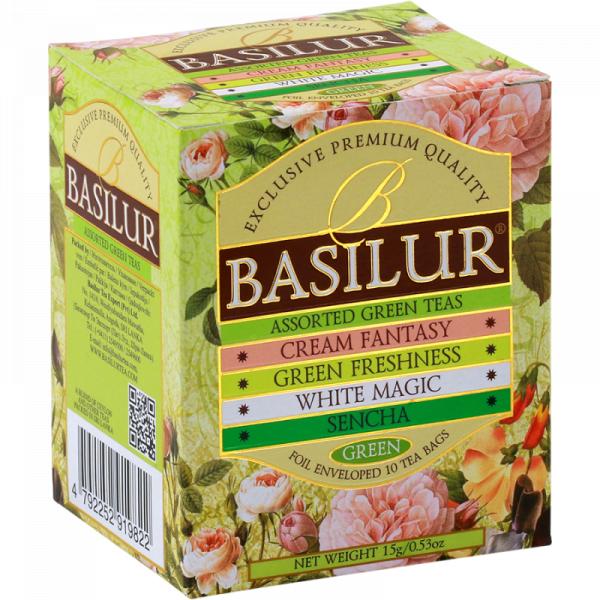 Ceai verde Basilur Bouquet Assorted, 10 plicuri [1]