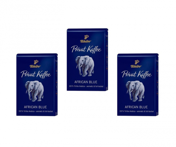 Pachet Cafea boabe 3 x Tchibo Privat Kaffee African Blue, 1.5 kg 0