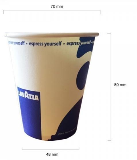 Pahare de carton Lavazza 6.5 oz, 100 buc [1]