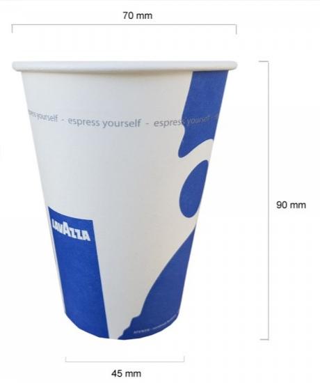 Pahare de carton Lavazza 7 oz - 210 ml, 100 buc [1]