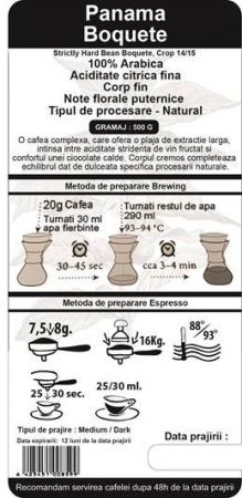Cafea Proaspat Prajita Single Origin The Coffee Shop Panama, 500g1