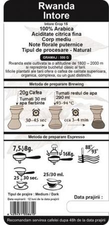 Cafea Proaspat Prajita Single Origin The Coffee Shop Rwanda, 500g1