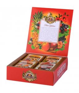 Ceai Basilur Fruit Infusions Assorted, 40 plicuri [0]