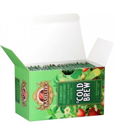 Ceai rece Basilur Brew Capsuni, Castraveti si Menta, 20 plicuri [2]