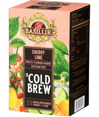 Ceai rece Basilur Brew Cherry si Lime, 20 plicuri [0]