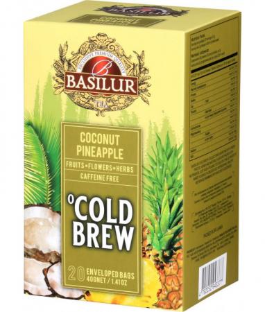 Ceai rece Basilur Brew Coconut-Pineapple, 20 plicuri [0]