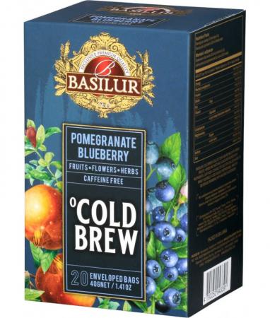 Ceai rece Basilur Brew Pomegranate Blueberry, 20 plicuri [0]