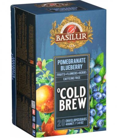 Ceai rece Basilur Brew Pomegranate Blueberry, 20 plicuri [1]