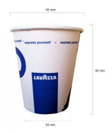 Pahare carton Lavazza 8oz, 50 buc [1]