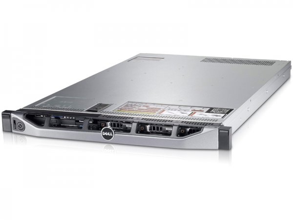Server DELL PowerEdge R620, Rackabil 1U, 2 Procesoare Intel Xeon E5-2660 2.2 GHz (16 nuclee), 64 GB DDR3 ECC, 4 x hard disk 146 GB SAS, DVDRW, Raid Controller SAS/SATA DELL Perc H710 Mini, iDRAC 7, 2  [0]