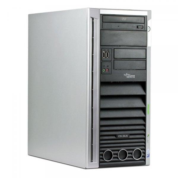 Calculator Fujitsu Siemens Celsius W360 Tower, Intel Core 2 Duo E4600, 2.4 GHz, 1 GB DDR2, 80 GB HDD SATA, DVD-ROM, Windows 7 Professional, 3 ANI GARANTIE 0