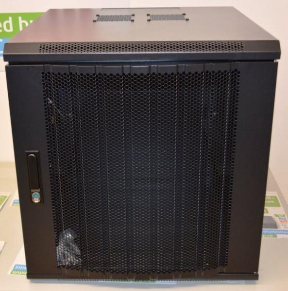 Cabinet Rack Retelistica Cloon 12U, usa fata metal perforat, montare perete 0