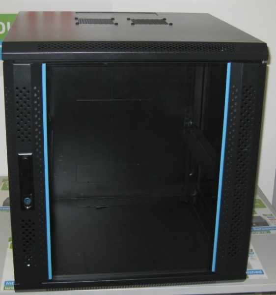 Cabinet Rack Retelistica Cloon 12U, usa fata sticla, montare perete 0