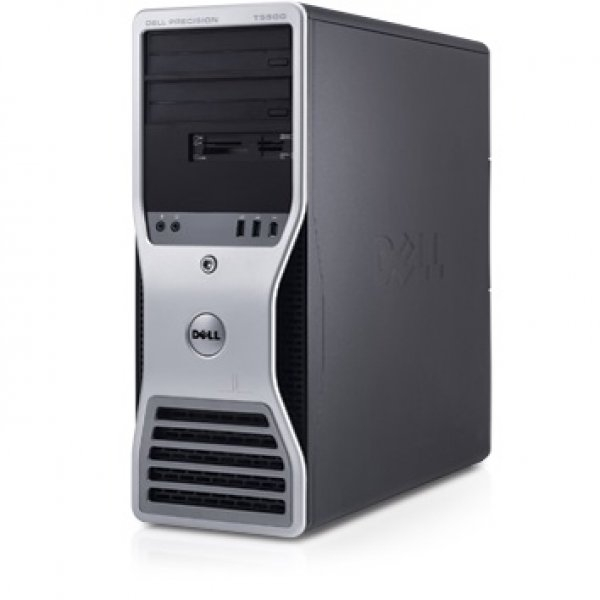Workstation Dell Precision T5500 Tower, Intel Six Core Xeon X5660 2.80 GHz, 8 GB DDR3 ECC, 2 x Hard Disk 300 GB SAS, DVDRW, Placa Grafica nVidia Quadro 4000, Windows 7 Professional, 3 ANI GARANTIE 0