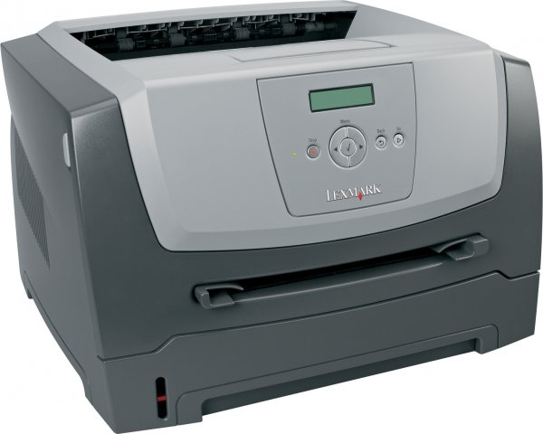 Imprimanta Laser Monocrom A4 Lexmark E350d, 33 pagini/minut, 80.000 pagini/luna, 600x600 DPI, Duplex, 1 x USB, 1 x LPT, Cartus Toner Nou Inclus, 2 Ani Garantie 0