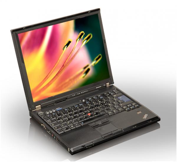 Laptop Lenovo ThinkPad T61, Intel Core Duo T7300 2.0 GHz, 2 GB DDR2, 100 GB HDD SATA, DVD-CDRW, Finger Print, WI-FI, Display 14.1inch 1024 by 768 0