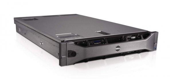 Server DELL PowerEdge R710, Rackabil 2U, 2 Procesoare Intel Xeon E5640  2.66 GHz (8 nuclee), 16 GB DDR3 ECC, 6 x hard disk 500 GB SATA, Raid Controller SAS/SATA DELL Perc6, Front Bezel, 2 x Surse Redu 0