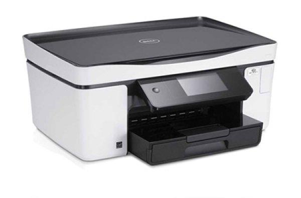 Imprimanta Multifunctionala All in One, Inkjet color A4 Dell P713w, 33 pagini/minut monocrom, 30 pagini/minut color, 10.000 pagini/luna, 4800 x 1200 DPI, Scanner, Card-Reader, WI-FI, 1 X Network, 1 X  0