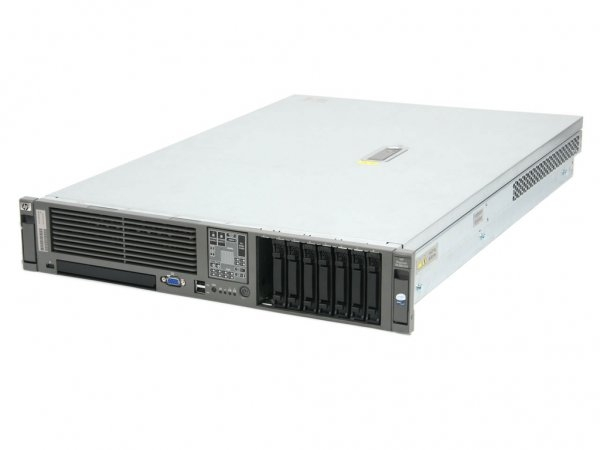 Server HP DL380 G5, Rackabil 2U, 2 Procesoare Intel Quad Core Xeon X5345 2.33 GHz, 4 GB DDR2 ECC, DVD-CDRW 0