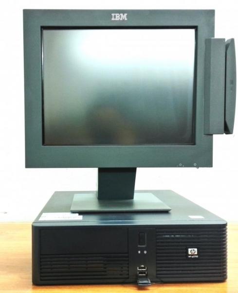 Sistem POS HP rp5700, Intel Pentium Dual Core E2160 1.8 GHz, 2 GB DDR2, 160 GB HDD SATA, DVD, 4 porturi serial, Monitor touchscreen 15inch IBM Sure Point 4820 0