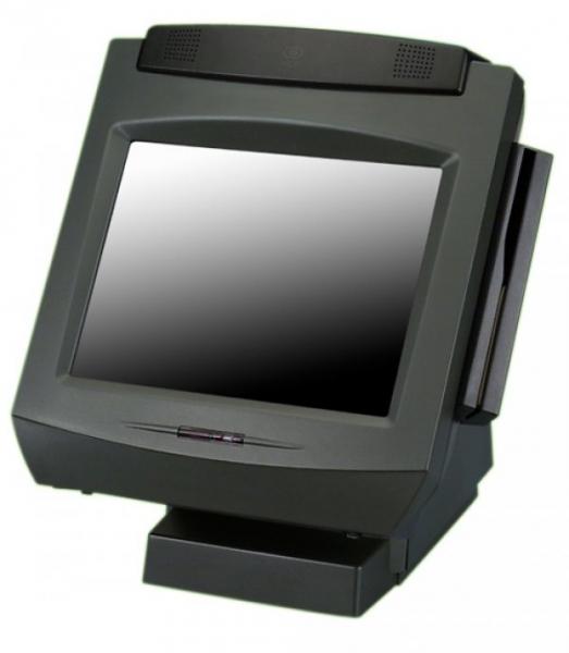 Sistem POS NCR 7402, Display 15inch Touchscreen, Intel Celeron 2.5 GHz, 2 GB DDRAM, 40 GB HDD, Cititor Card, Customer Display, Windows 7 Home Premium 0