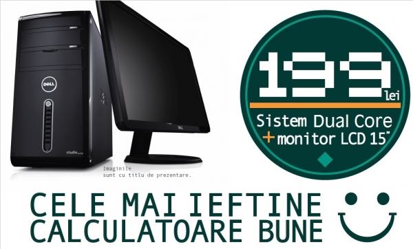 """Calculator complet Dual Core cu monitor LCD 15"""" Pachet PROMO!  0"""