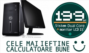 """Calculator complet Dual Core cu monitor LCD 15"""" Pachet PROMO! 1"""