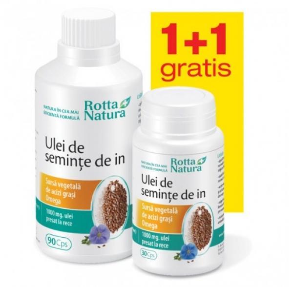 Ulei De Seminte De In 90+30 cps Rotta Natura [0]