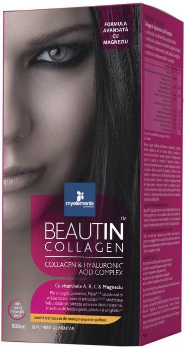 Beautin Colagen Lichid cu Capsuni si Vanilie + Magneziu 500 ml Myelements 0