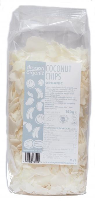 Fulgi Raw De Cocos Bio 150 g Dragon Superfoods 0