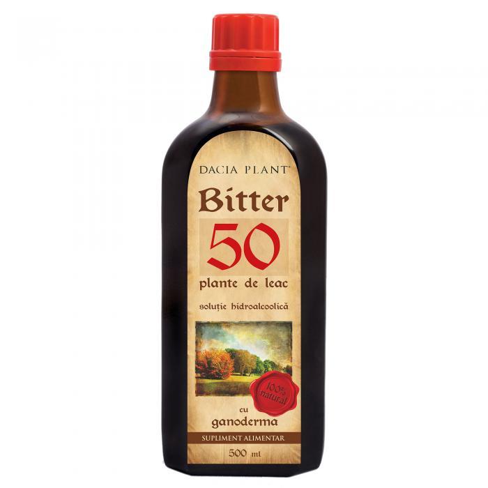 Bitter 50 Plante de Leac cu Ganoderma 500 ml Dacia Plant 0