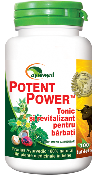 Potent Power Tonic si Revitalizant Barbati 50 tb Ayurmed 0