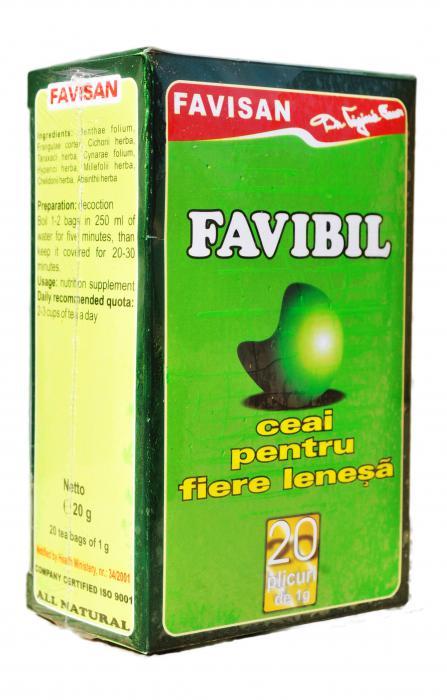 Favibil Ceai Fiere Lenesa 20 doze Favisan 0