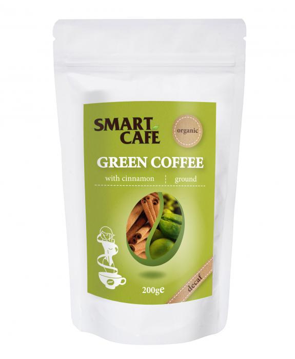 Cafea Verde Macinata Decofeinizata Cu Scortisoara Bio 200 g Dragon Superfoods 0