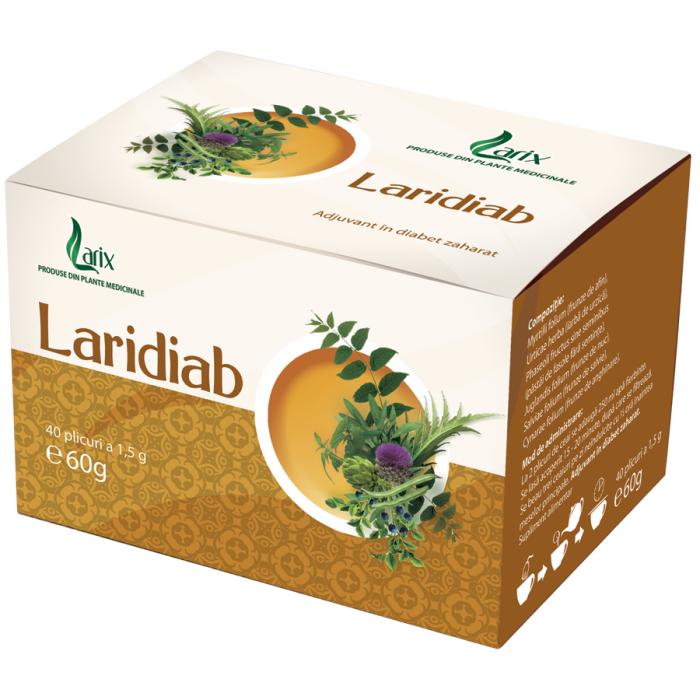 Ceai Laridiab Antidiabetic 40 plicuri Larix 0
