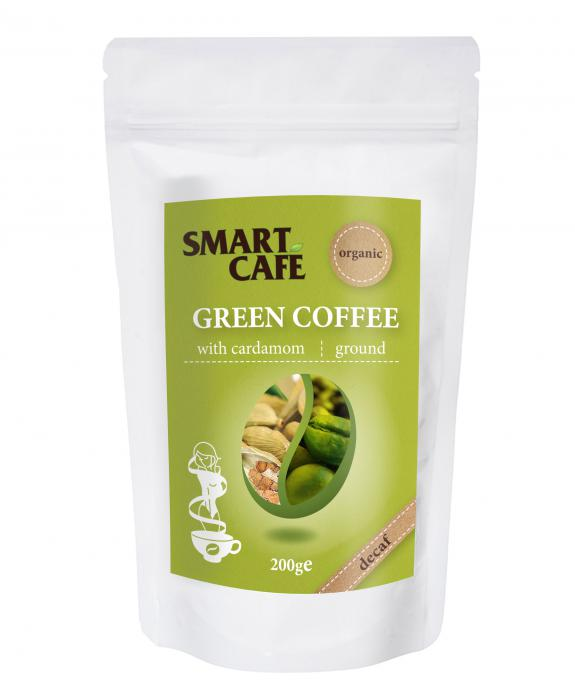Cafea Verde Macinata Decofeinizata Cu Cardamom Bio 200 g Dragon Superfoods 0