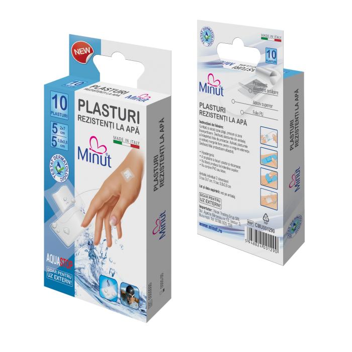 Plasturi Rezistenti la Apa 10 buc Minut 0