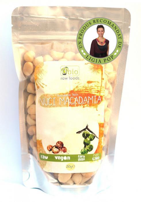 Nuci Macadamia Raw 250 g Obio 0