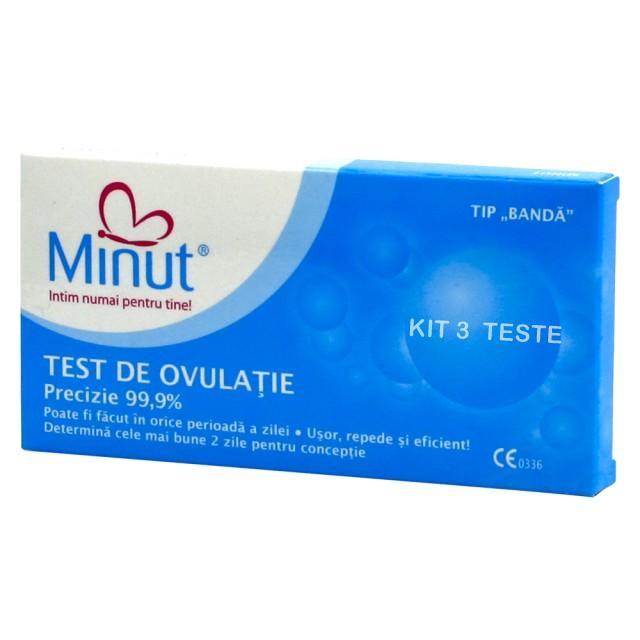 Teste de Ovulatie Kit 5 buc. + test sarcina cadou Minut 0