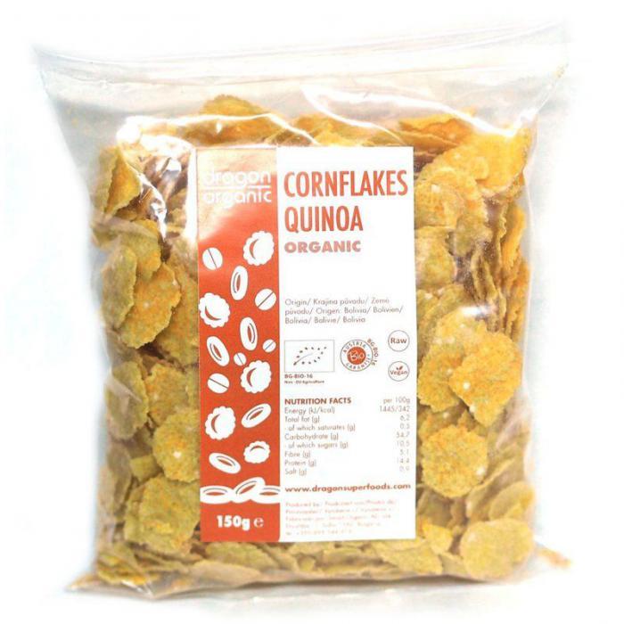 Fulgi De Porumb Cu Quinoa Bio 150 g Dragon Superfoods 0