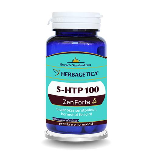 5-HTP 100 Zen Forte 60 cps Herbagetica 0