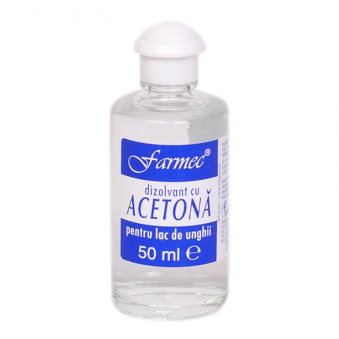 Dizolvant Cu Acetona Pentru Lac De Unghii 50 ml Farmec 0