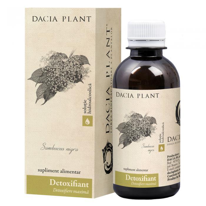 Detoxifiant Tinctura 200 ml Dacia Plant 0