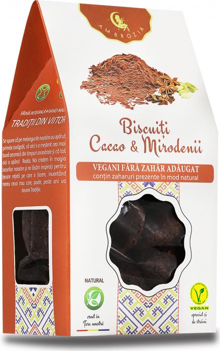 Biscuiti Vegani Cacao si Mirodenii x 150 g HiperAmbrozia 0