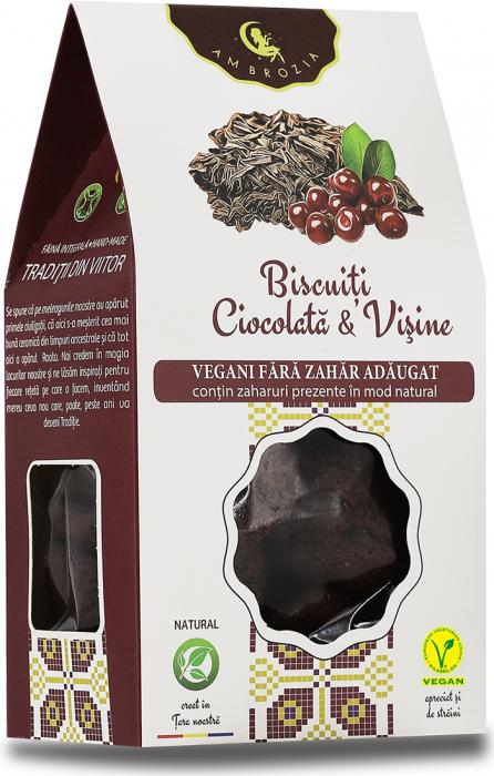 Biscuiti Ciocolata si Visine x 150 g HiperAmbrozia [0]