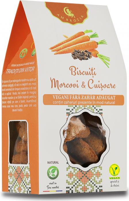 Biscuiti Vegani cu Morcovi si Cuisoare x 150 g HiperAmbrozia 0