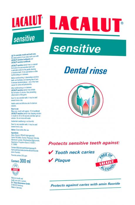Lacalut Apa de Gura Sensitive Antiplaque 300 ml Zdrovit 0